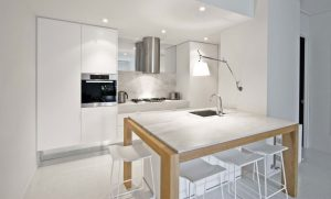 Aok kitchens white light and chair